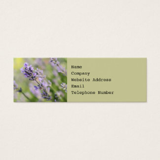 Lavender Flowers. Mini Business Card
