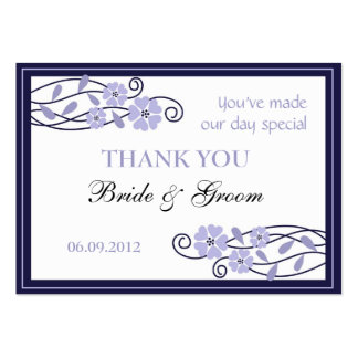 Lavender Flowers Wedding Favor Gift Tags Business Card