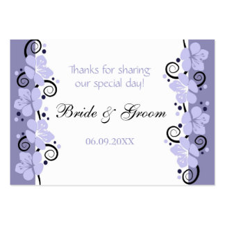 Lavender Flowers Wedding Favor Gift Tags Thank You Business Card Template