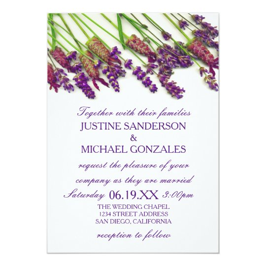 Lavender Flowers - Wedding Invitation