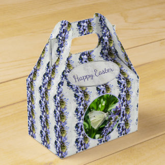 Lavender Flowers White Butterfly Easter Party Favor Box