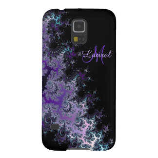 Lavender Fractal Sash Personalized Galaxy S5 Case