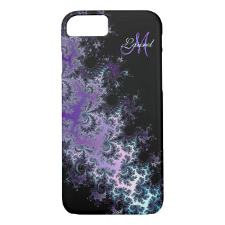 Lavender Fractal Sash Personalized iPhone 7 Case