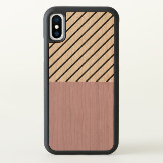 Lavender Geometric Pattern iPhone X Case