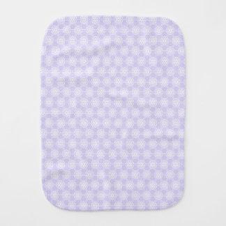 Lavender Geometric Pattern Unisex Baby Burp Cloths