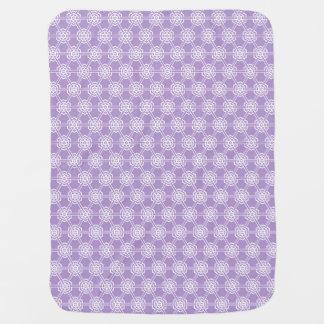 Lavender Geometric Pattern Unisex Swaddle Blankets