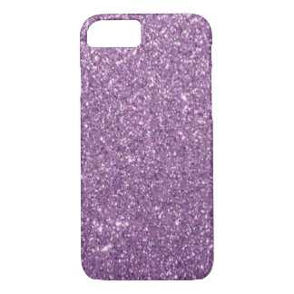 Lavender Glitter iPhone 7 Case
