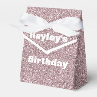 Lavender Glitter Printed Party Favor Box