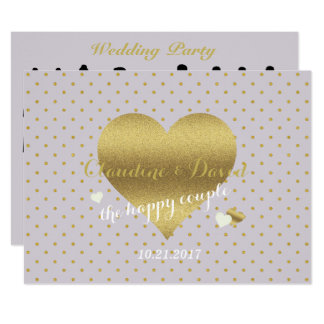Lavender & Gold Polka Dot Wedding Party Program
