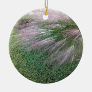 Lavender Grass Ceramic Ornament