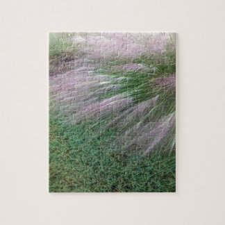 Lavender Grass Jigsaw Puzzle