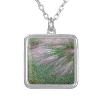 Lavender Grass Silver Plated Necklace
