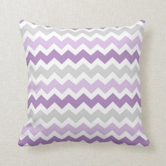 Lavender Gray Chevron Decorative Pillow