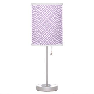 Lavender Greek Key Pattern Table Lamps
