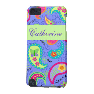 Lavender Green Modern Paisley Graphic Pattern iPod Touch 5G Case