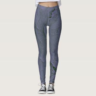Lavender Green Textured Leggings