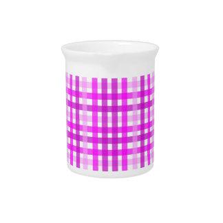 Lavender Grid Drink Pitchers