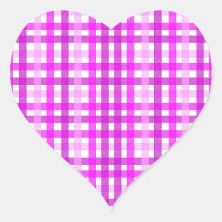 Lavender Grid Heart Sticker