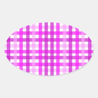 Lavender Grid Oval Sticker