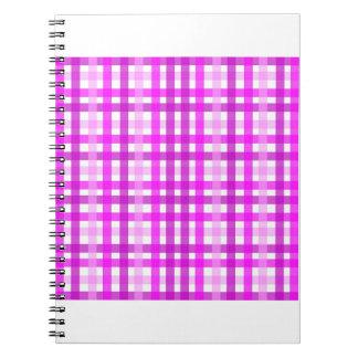 Lavender Grid Spiral Notebooks