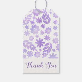 Lavender Hand Drawn Floral Pattern Gift Tags