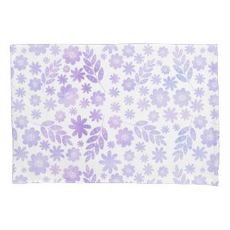 Lavender Hand Drawn Floral Pattern Pillowcase