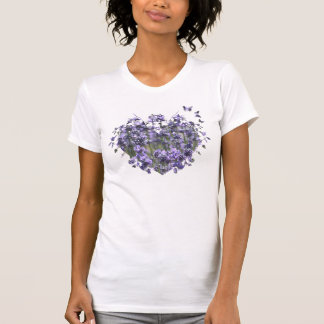 Lavender Heart and Butterflies Tee Shirts
