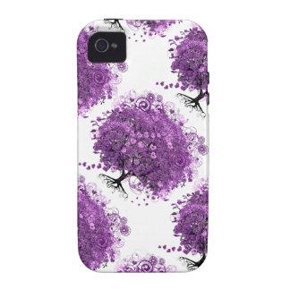Lavender Heart Leaf Tree Wedding iPhone 4/4S Cases