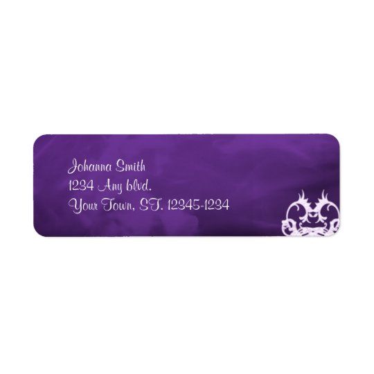 Lavender Hearts Gothic Address Label