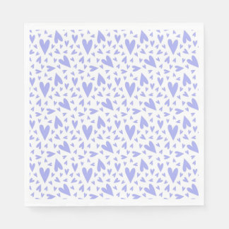 Lavender Hearts Pattern Disposable Napkins