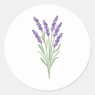 Lavender Herb Classic Round Sticker