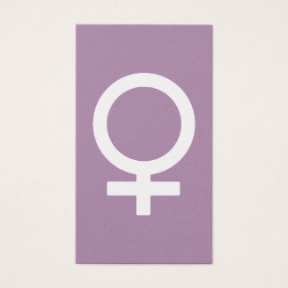 Lavender Herb Female Symbol Business Card