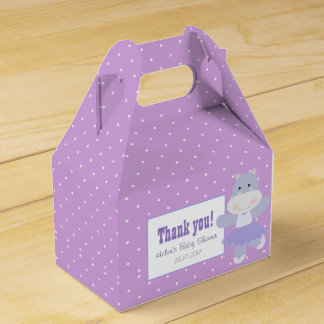 Lavender Hippo Ballerina Polkadots Party favor Favor Box