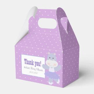 Lavender Hippo Ballerina Polkadots Party favour Favor Box