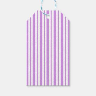 Lavender Horizontal Pinstripe Gift Tags