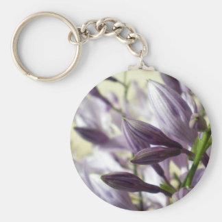 Lavender Hosta blooms Keychain