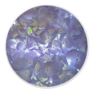 Lavender  Hydrangeas Ceramic Knob