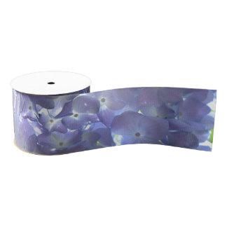 Lavender hydrangeas grosgrain ribbon