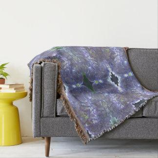 Lavender  Hydrangeas mandala Throw Blanket