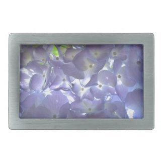 Lavender Hydrangeas Rectangular Belt Buckle