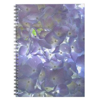 Lavender Hydrangeas Spiral Note Book