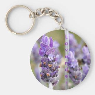 Lavender in bloom keychain