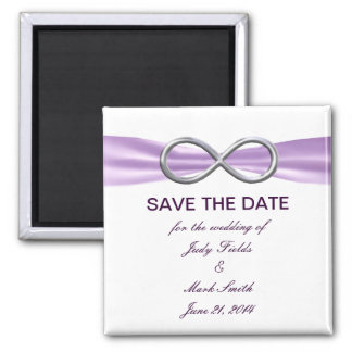 Lavender Infinity Save The Date Magnet