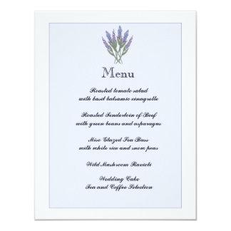 Lavender Info/Menu Card