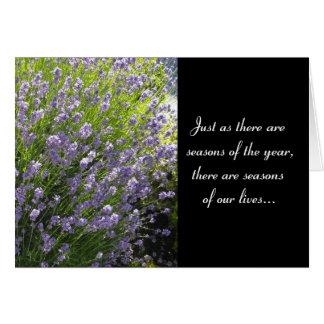 Lavender Inspirational Blank Card