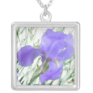 Lavender Iris Necklace