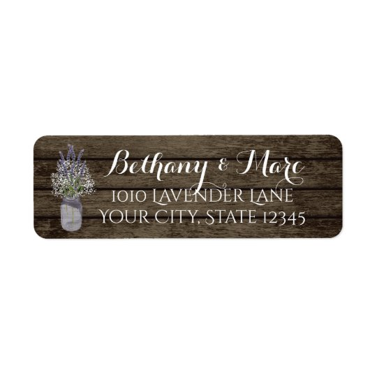 Lavender Jar and Barn Wood Address Return Address Label