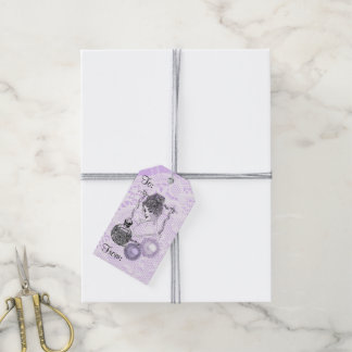 Lavender Lady Perfume Lace& Rhinestones Gift Tags Pack Of Gift Tags