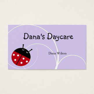Lavender Ladybug Daycare Business Card