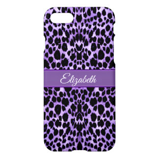 Lavender Leopard Animal Print iPhone X Case